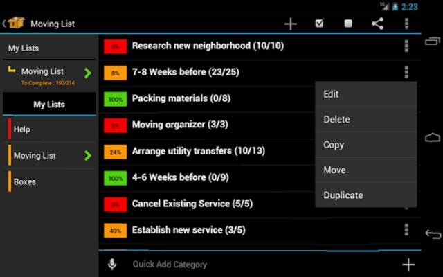 Moving Planner screenshot 8