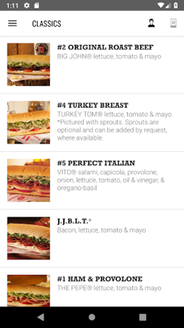 Jimmy John's Sandwiches screenshot 2