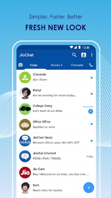 JioChat: HD Video Call screenshot 2