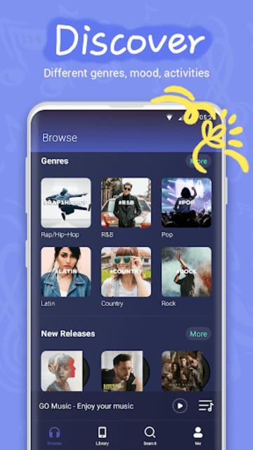 GO Music - Offline & online music, free MV, MP3 screenshot 3