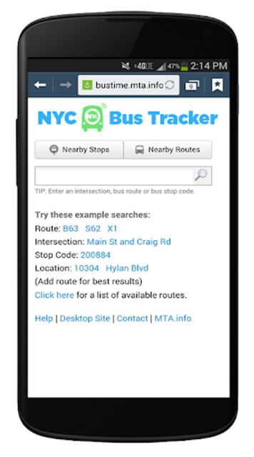 NYC Mta Bus Tracker screenshot 3