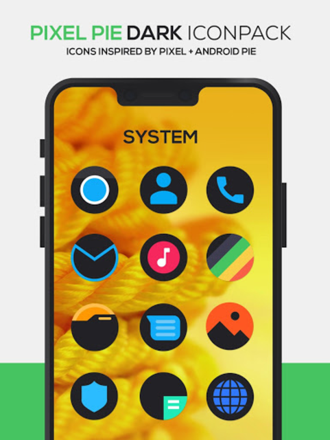 Pixel Pie DARK Icon Pack screenshot 1
