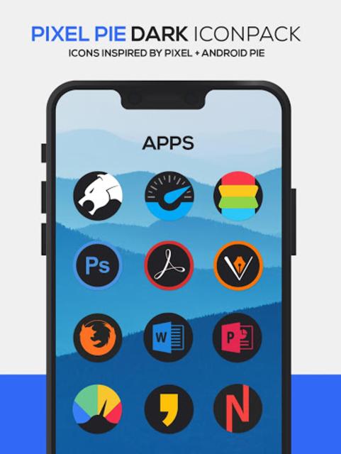Pixel Pie DARK Icon Pack screenshot 4
