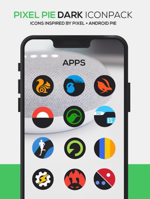 Pixel Pie DARK Icon Pack screenshot 5