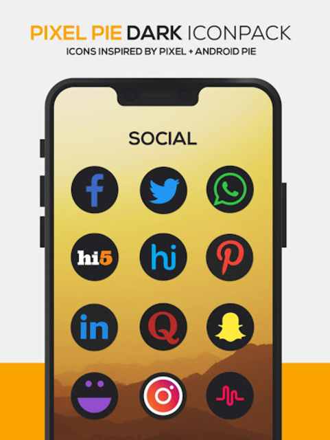Pixel Pie DARK Icon Pack screenshot 6