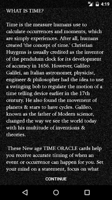 Galileo's Time Oracle Deck screenshot 3