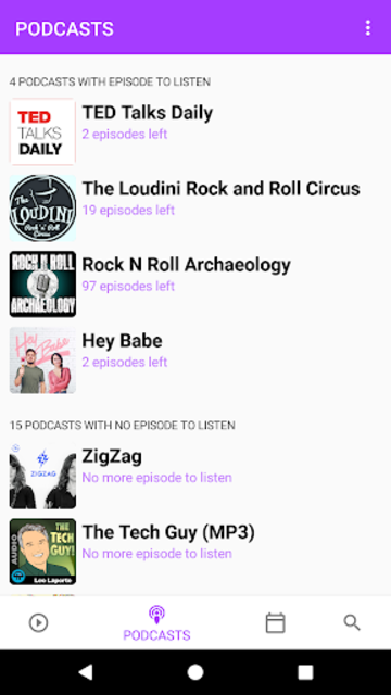 Podcasts Tracker - Podcast management made easy screenshot 1