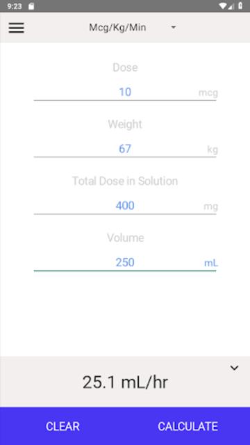 IV Infusion Calculator screenshot 13