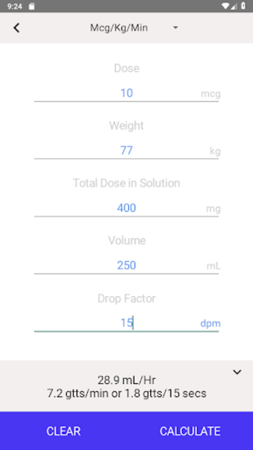 IV Infusion Calculator screenshot 15