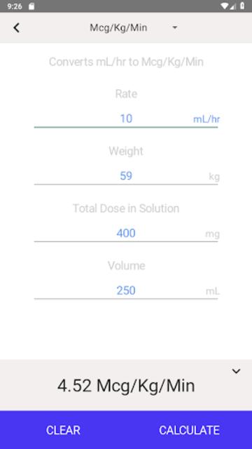IV Infusion Calculator screenshot 18