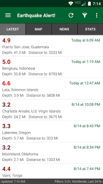 Earthquake Alert! screenshot 1
