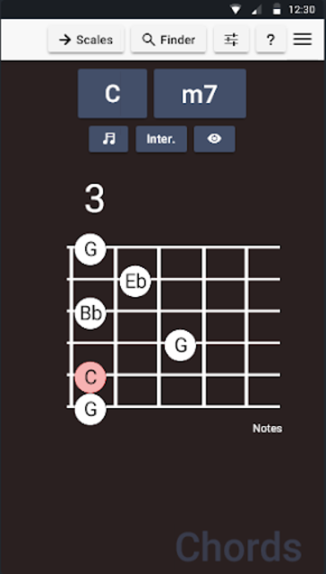 Guitar Chords and Scales screenshot 1