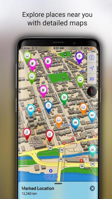 GPS Offline Maps, Directions - Explore & Navigate screenshot 13