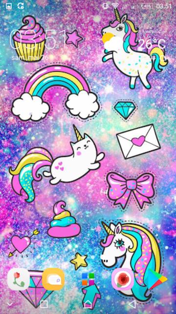 Girly Galaxy wallpapers Cute & Kawaii backgrounds screenshot 4