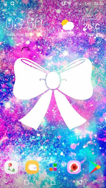 Girly Galaxy wallpapers Cute & Kawaii backgrounds screenshot 1