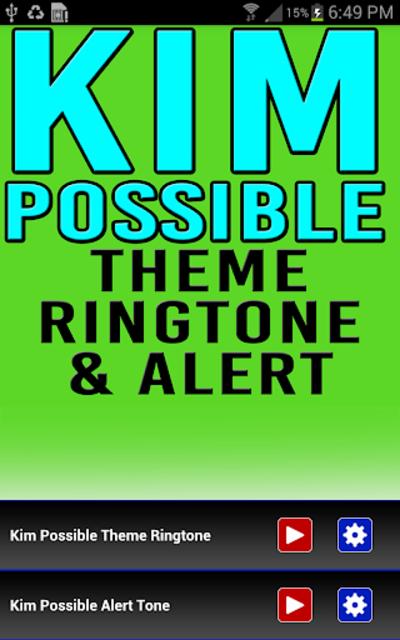 Kim Possible Ringtone & Alert screenshot 1