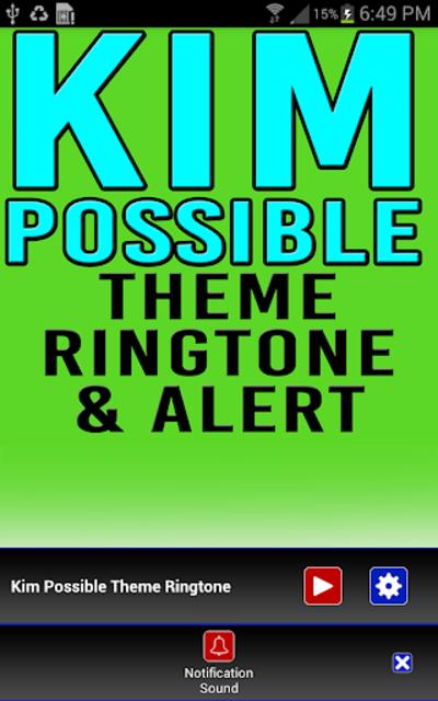 Kim Possible Ringtone & Alert screenshot 3