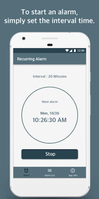 Repeat Alarm - Recurring reminder & Interval timer screenshot 2