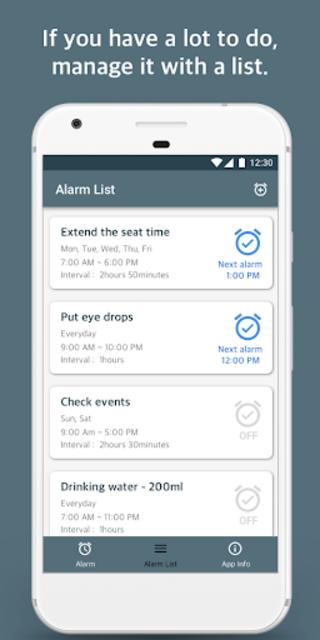 Repeat Alarm - Recurring reminder & Interval timer screenshot 3