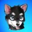 KleeMoji - Alaskan Klee Kai / Mini Husky Stickers