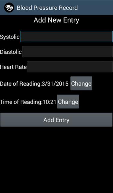 Keep Blood Pressure Record screenshot 2