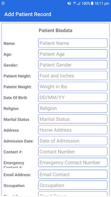 Patient Notes screenshot 2