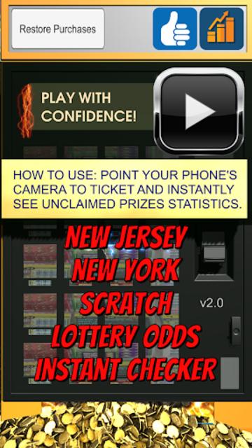 NJ + NY Scratch Lottery Odds screenshot 1