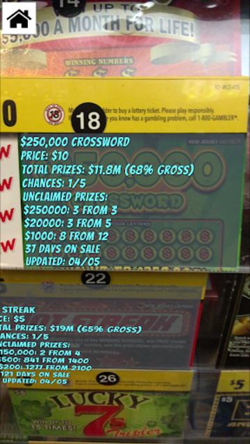 NJ + NY Scratch Lottery Odds screenshot 2