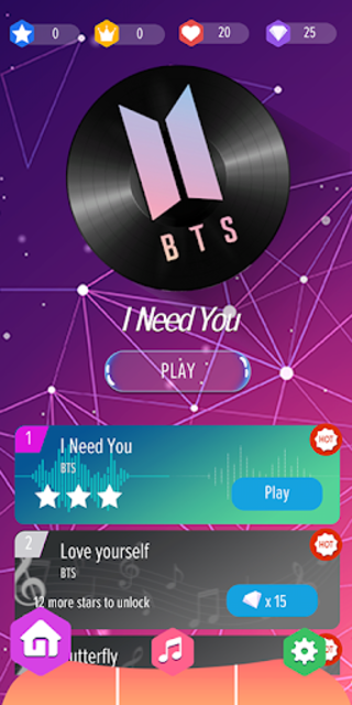 BTS Piano Tiles - Kpop screenshot 2