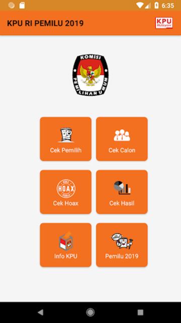 KPU RI PEMILU 2019 screenshot 2