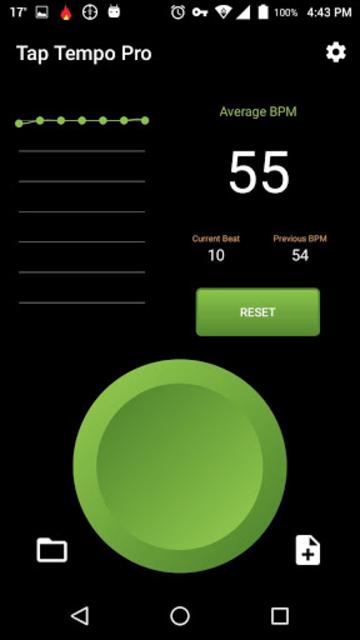 Tap Tempo Pro - BPM counter & Metronome screenshot 1