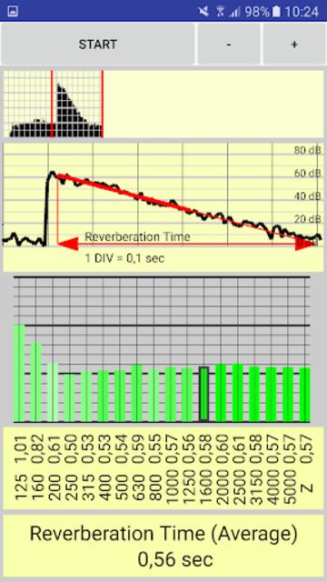 reverberation time pro screenshot 2