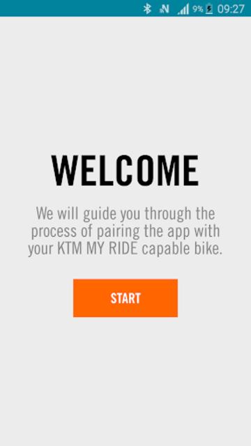 KTM MY RIDE Navigation screenshot 1