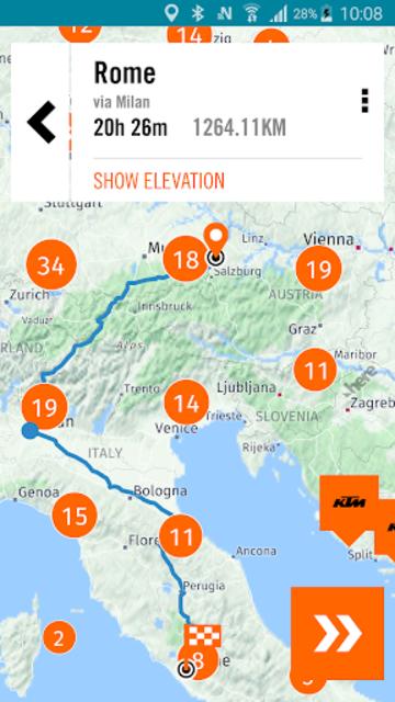 KTM MY RIDE Navigation screenshot 5