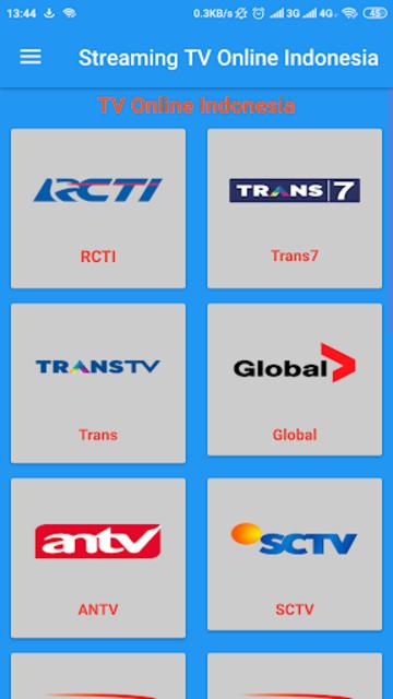 Streaming TV Online Indonesia screenshot 1