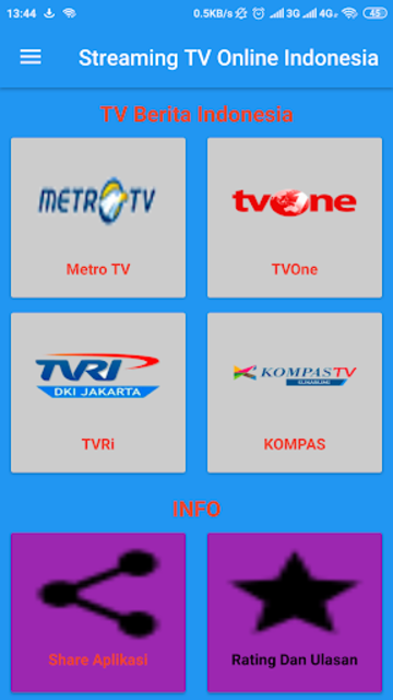 Streaming TV Online Indonesia screenshot 2