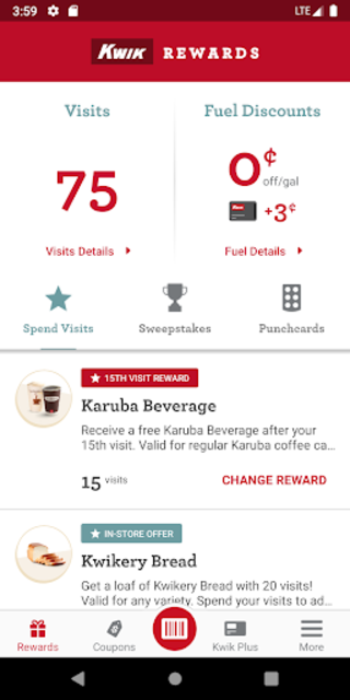Kwik Rewards screenshot 2