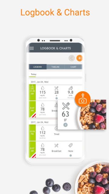 Dario Blood Glucose Tracker & Logbook for Diabetes screenshot 1