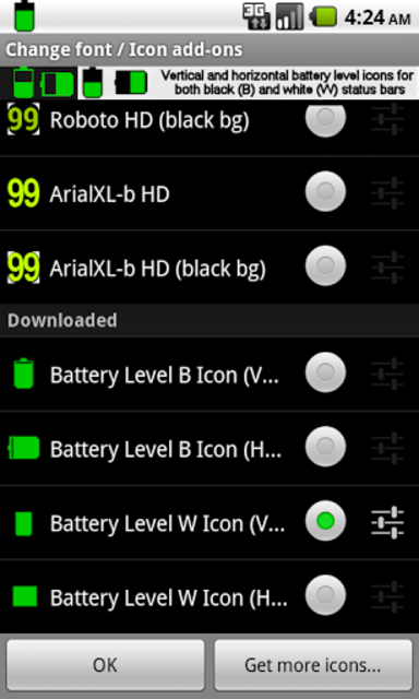BN Pro Battery Level Icons screenshot 3