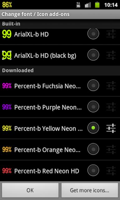 BN Pro Percent-b Neon HD Text screenshot 2