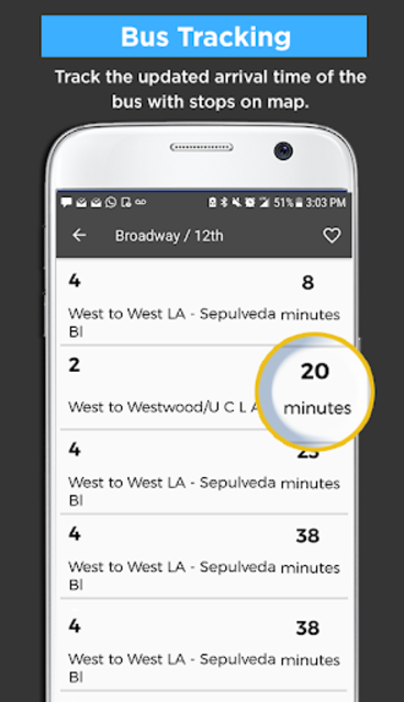 Los Angeles Metro Bus and Train Tracker screenshot 2