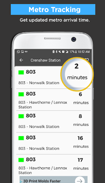 Los Angeles Metro Bus and Train Tracker screenshot 3