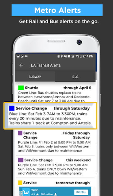 Los Angeles Metro Bus and Train Tracker screenshot 5