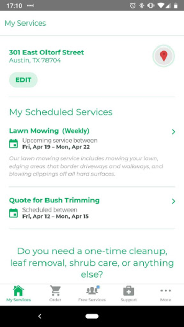 LawnStarter screenshot 1