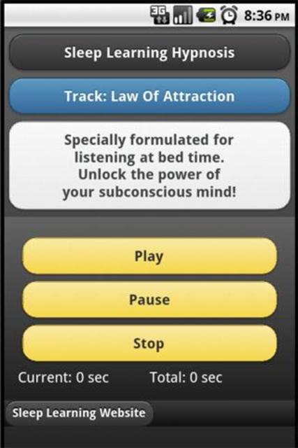 Sleep Hypnosis Law Of Attraction screenshot 1