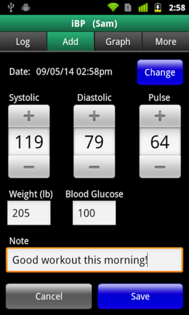 iBP Blood Pressure screenshot 5