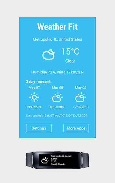 Gear Fit Weather screenshot 1