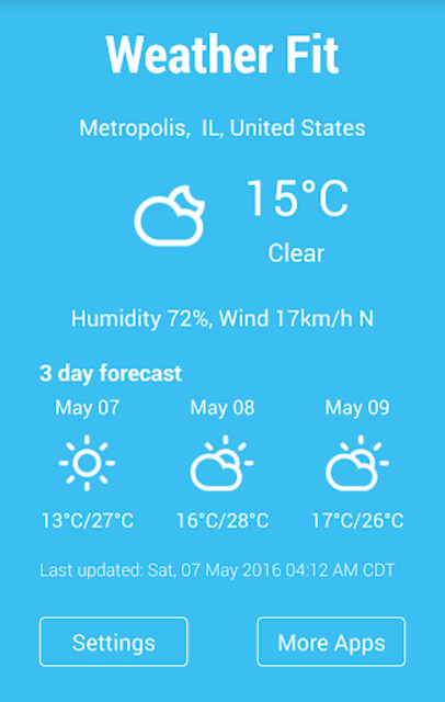 Gear Fit Weather screenshot 2