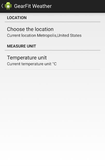 Gear Fit Weather screenshot 3
