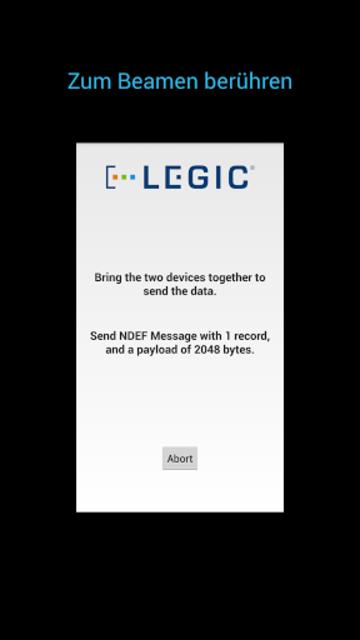 LEGIC NFC P2P Example screenshot 4